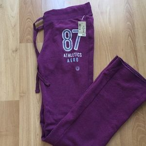 Aeropostale fit and flare purple sweat pants